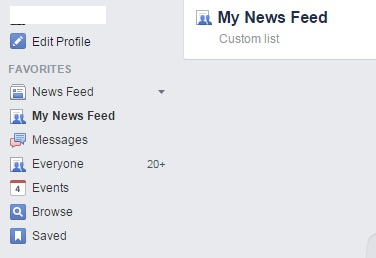 Custom Facebook List