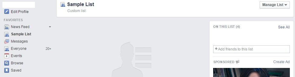 Facebook List Completion